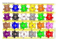 Teddy Bear Display Borders (SB11426) - SparkleBox
