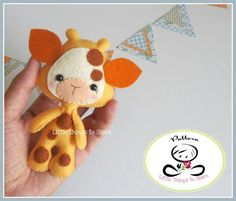 Little Giraffe, just the sweetest project for today! Get the pattern and tutorial in my shop.
