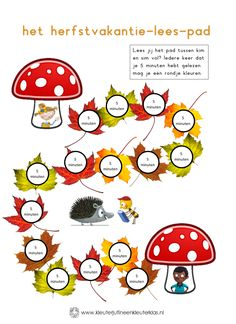 vakantie lezen - herfstvakantie kleur.pdf - Google Drive Kindergarten Lessons, Primary School, Kids House, Classroom, Teacher, Letters, Activities, Numeracy, Google Drive