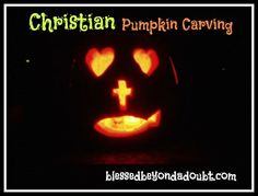 Christian Pumpkin Carving ideas with poem!  Great way to minister to the neighborhood!  #parents #pumpkin #fall