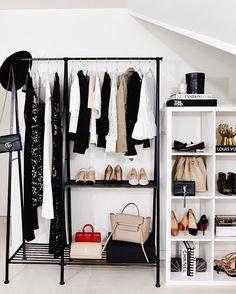 Clothes Rack Bedroom Diy Closet Organization Ideas For 2019 Closet Bedroom, Bedroom Decor, Clothes Rack Bedroom, Ikea Clothes Rack, Diy Clothes, Hanging Clothes, Closet Designs, Closet Organization, Organization Ideas