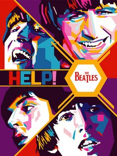"""Alternative poster for The Beatles, """"Help! The Beatles Help, Beatles Love, Beatles Art, Beatles Poster, Beatles Lyrics, Ringo Starr, Rock Posters, Concert Posters, Band Posters"""