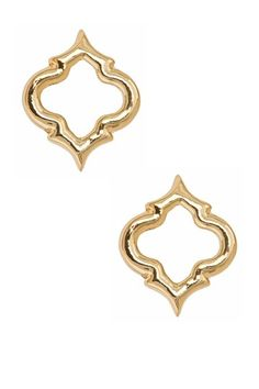 Fornash  Cutout Spade Gold Plated Earring