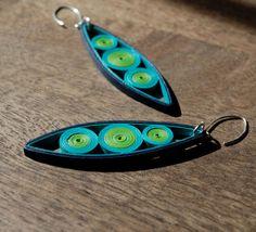 Modern Paper Earrings / Lightweight Earrings / Paper Jewelry / Eco Friendly Jewelry