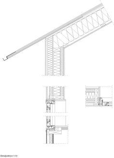 Gutter and double frame. Deezen. House Morran by Johannes Norlander Arkitektur
