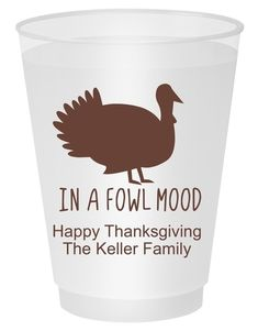 In A Fowl Mood Shatterproof Cups