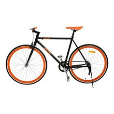 Jacob bike General Lee. Unieke hoogwaardige single speed retro stadsfiets. Licht, snel, minimalistisch. Zwart met oranje.