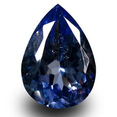 Tanzanite 4195: 0.87 Ct Aaa Magnificent Pear Shape (8 X 5 Mm) Bluish Violet Tanzanite Gemstone BUY IT NOW ONLY: $34.99