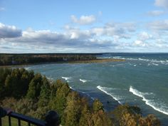 View from the top of the Cana Island light house. Door County Wi. Lake MI
