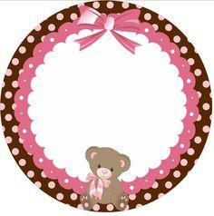 Kit festa Ursinha marrom e rosa Grátis pronto para imprimir