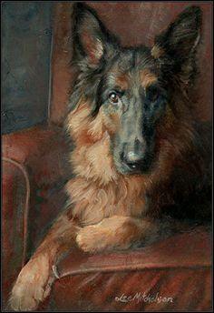 ANGUS - Oil Painting Original Animal Art by Lee Mitchelson Copyright Lee Mitchelson CUSTOM ANIMAL ART
