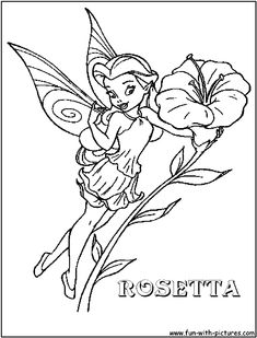 Printable fairies drawlings free printable pictures coloring pages image detail for disney fairy rosetta coloring page disney altavistaventures Choice Image
