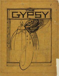 drawing for organ music by Margaret MacDonald Mackintosh (Scottish 1864 -1933)