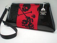 Black Skull Purse Red and Black Gothic by VelvetBitchOriginals, $25.00