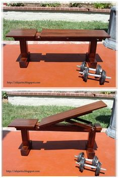 Diy weight bench with 5 positions for much less than the price to buy one. When … Diy weight bench with 5 positions for much less than the price to buy one. When it comes to working out with free weights, you really need a multipurpose Home Made Gym, Diy Home Gym, Home Gym Decor, Gym Room At Home, Best Home Gym, Homemade Gym Equipment, Diy Gym Equipment, No Equipment Workout, Fitness Equipment