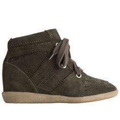 Isabel Marant Chalaza Sneakers High Top Suede Leather Fumo  $179.00