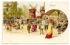 Cast Your Worries Away... Come To the Moulin Rouge (1) (c.1900)