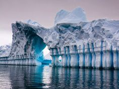 Entrance to the Frost Castle glacier (South Pole)