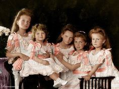 The Romanov children, Olga, Alexei, Tatiana, Maria and Anastasia
