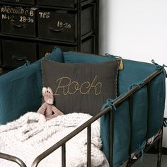 Kickcan & Conkers: Rock, Baby Rock x Baby Decor, Kids Decor, Cool Kids Bedrooms, Kids Rooms, Cot Bumper, Malva, Baby Bedroom, Kids Corner, Nursery Inspiration