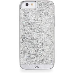 Diamond Brilliance iPhone 6 Case ($85) ❤ liked on Polyvore featuring accessories, tech accessories, phones, phone cases, cases, iphone and silver
