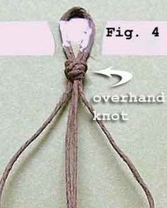 The overhand knot is probably the most commonly used knot on the planet.  Here's a tutorial for making one with clear diagrams and instructions.