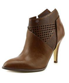 Carlos by Carlos Santana Larisa Women  Pointed Toe Leather Brown Bootie