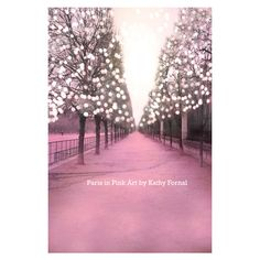 Paris Photography - Paris Tuileries, Dreamy Baby Pink Trees, Fantasy... ($30) ❤ liked on Polyvore