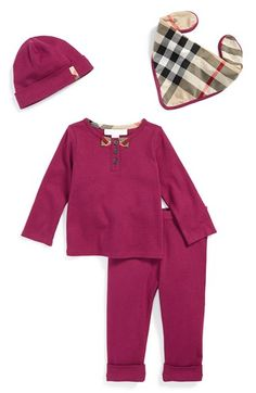 Burberry Cotton Four-Piece Baby Gift Set (Baby Girls) available at #Nordstrom
