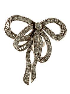 Rhinestone Bow Ring