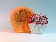 Cupcake flor, sabonete artesanal, molde de silicone, arte de modelar, molde de…