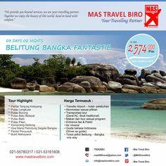 Wisata Indonesia tak kalah indahnya, banyak keindahan Indonesia yang harus di kunjungi salah satunya Bangka Belitung. Tempat yang wajib ada di list traveling teman teman. Siap untuk berlibur? Yuk Booking :)