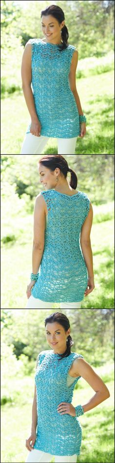 Make as a dress.  50+ Quick & Easy Crochet Summer Tops - Free Patterns - Page 7 of 9 - DIY & Crafts