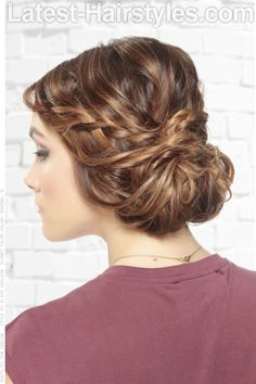 Simple Updo with Braids and Twists