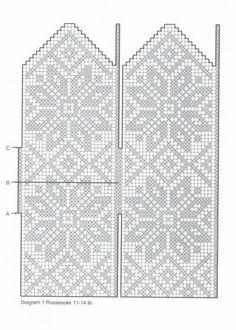 Схемы узоров для варежек Knitted Mittens Pattern, Fair Isle Knitting Patterns, Knitting Charts, Knit Mittens, Knitted Gloves, Knitting Stitches, Knitting Socks, Crochet Chart, Filet Crochet