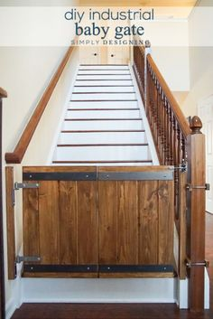 Industrial DIY Baby Gate - this is such a fun and beautiful way to add a baby gate to your stairs and still have it blend in with your home