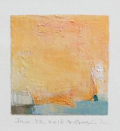 Jan. 22 2018  Original Abstract Oil Painting  9x9 painting