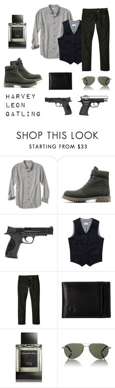 """""""FMA OC Harvey"""" by thatshippertypefangirl ❤ liked on Polyvore featuring Banana Republic, Timberland, Smith & Wesson, Nudie Jeans Co., River Island, Ermenegildo Zegna, Oliver Peoples, men's fashion and menswear"""