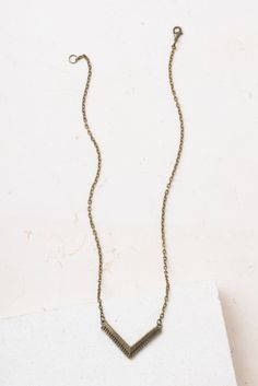 Tiana; Antique Gold Arrow Layering Necklace