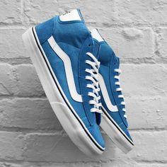 Vans Mid Skool Pro 50th Blue   White Shoes 59f420fd7