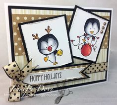 http://just4funcrafts.blogspot.ca/2014/09/its-most-wonderful-time-of-year.html -  Copics: Y11 Y15 Y26 Y28 bell C1 C3 C5 C7 C9 Penguins E33 E37 Antler Y35 Y38 R02 R14 R24 R46 Ornament
