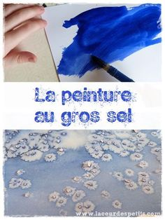 Encre et gros sel : la technique pas à pas - waff life photos and shared Diy For Kids, Crafts For Kids, Painting Techniques, Painting Tutorials, Art Lessons, Activities For Kids, Diy And Crafts, Animation, Scrapbook