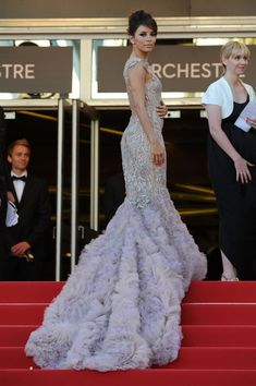 Eva Longoria in Marchesa at the Cannes Film Festival 2012