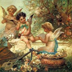 Angels  Art by Hans Zatzka