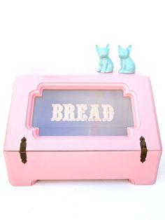 Vintage Pink Bread Box || Retro Kitchen Storage & Decor by ElectricMarigold on Etsy