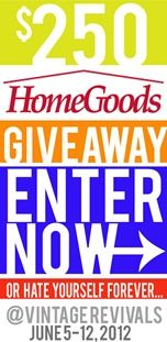 AWESOME Giveaway @vitagerevivals! 250 giftcard to HomeGoods!  Enter Now!! #giveaway