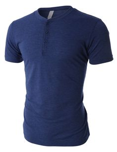 This tri-blend short sleeve henley shirt with button placket is an all-time favorite. Made of a luxurious soft jersey material and crafted from a lightweight heathered triblend, this henley is designe Running Shorts Outfit, Best Running Shorts, Shirt Outfit, Women's Henley, Henley Shirts, Men's Shirts, Mens Casual T Shirts, Mens Tops, Cool Outfits For Men