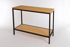 Bamboogle Brooklyn Loft Collection Modern Bamboo Entry Console Table with Black Legs 44 x 14 x 32 Timber ** Check out this great product.-It is an affiliate link to Amazon.