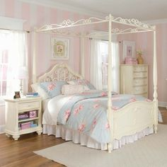 Little princess needs a canopy bed :) I had one when I was little Aubry needs one too!!!