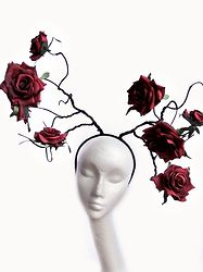 ROSES RED - Couture Floral Headdress